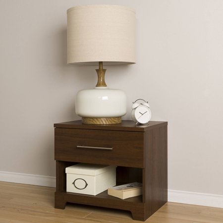 South Shore Primo 1-Drawer Nightstand, Multiple Finishes ()