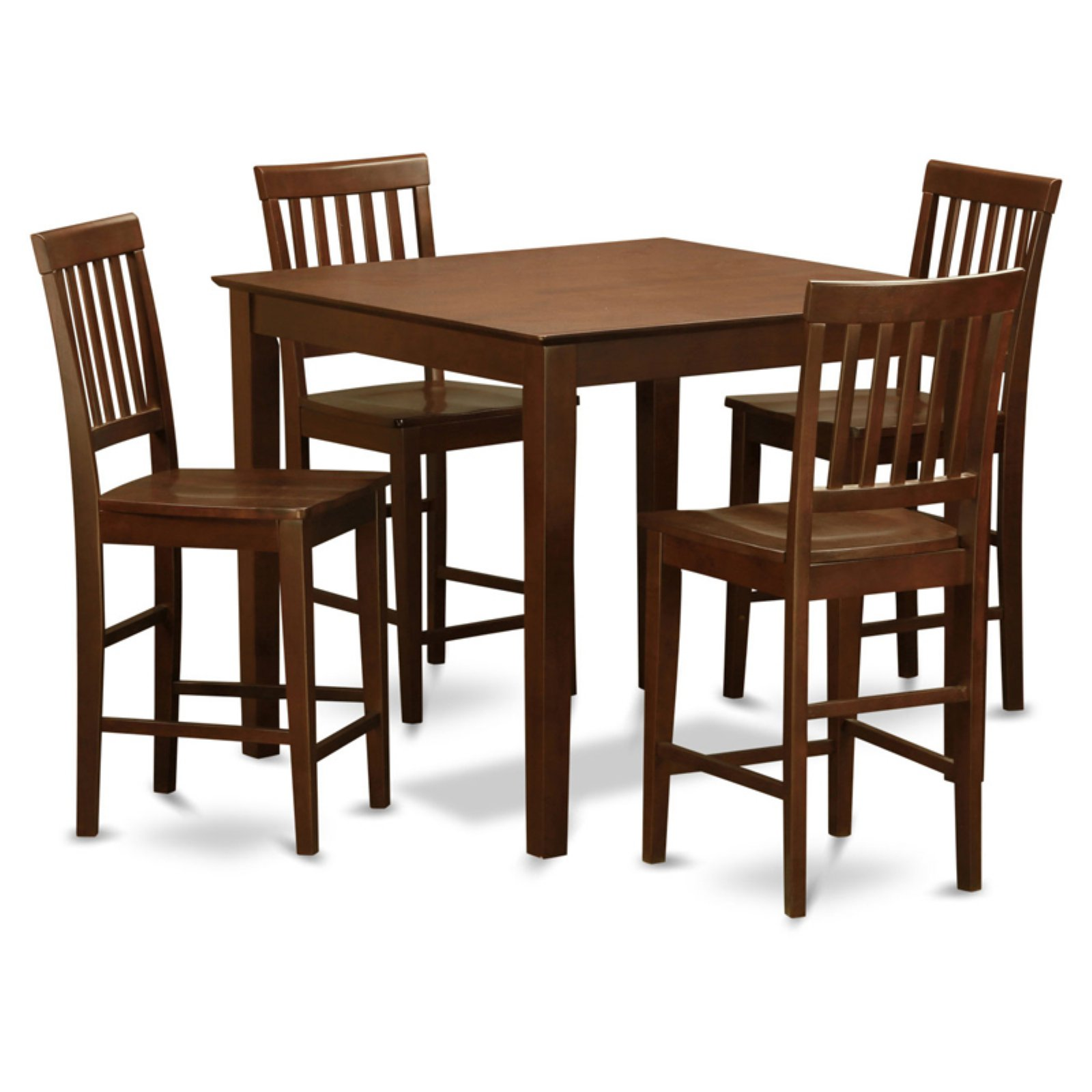 East West Furniture East West 3 Piece Slat Back Dining Table Set