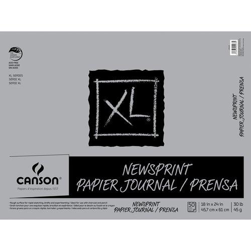 "Canson XL 18"" x 24"" Newsprint Pad, 50 Sheets"