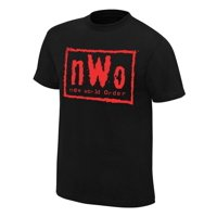 Official WWE Authentic nWo Wolfpac Black & Red T-Shirt  Small