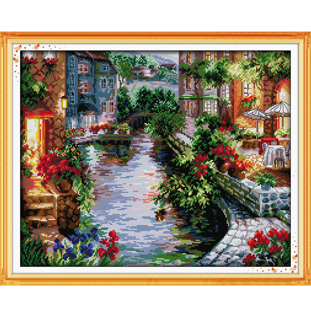Winter House Handmade Needlework Counted Cross Stitch Embroidery Kit Set 14CT