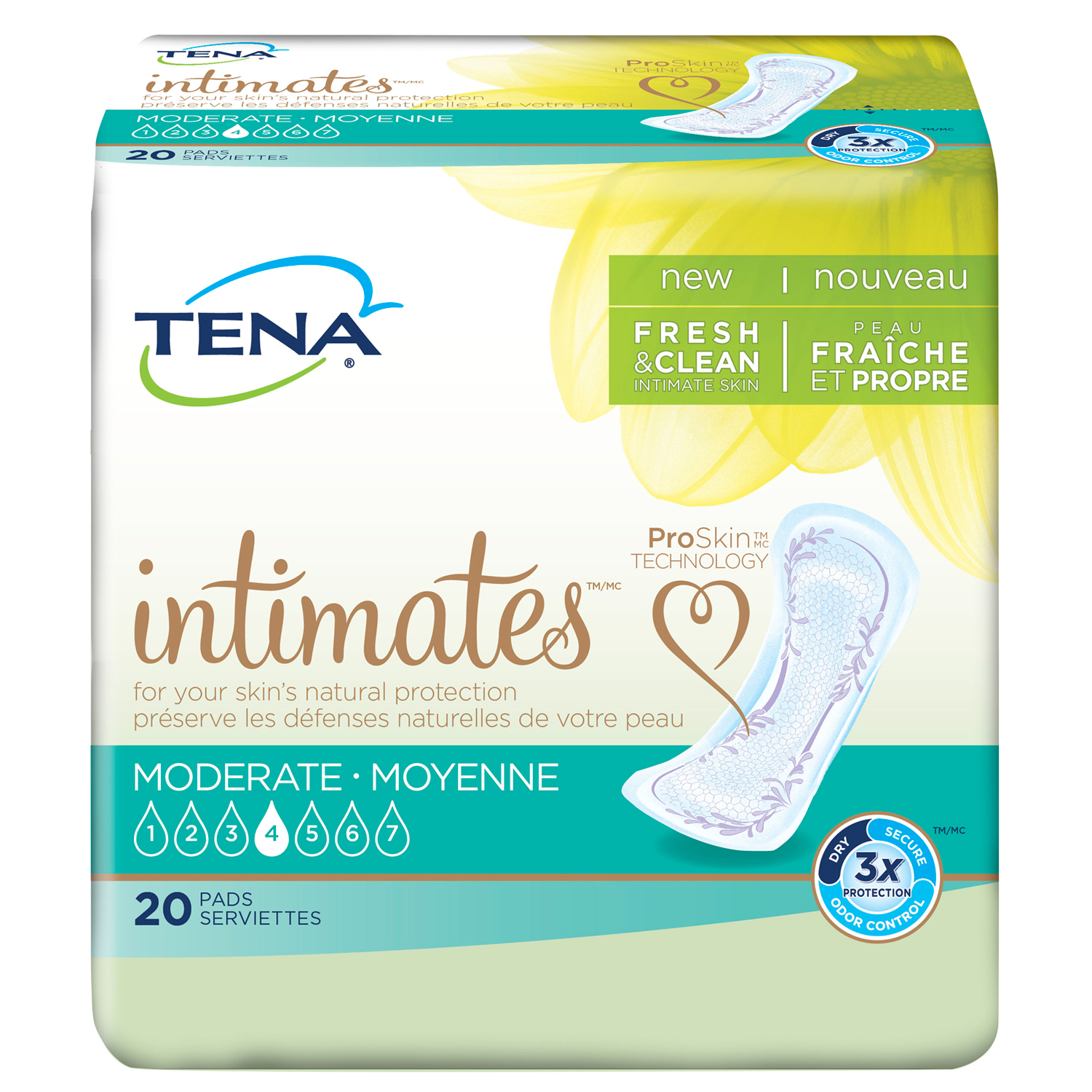 "TENA Serenity Pant Liner, Moderate, Medium 11"" Bladder Control Pads, 41300 - Case of 120"