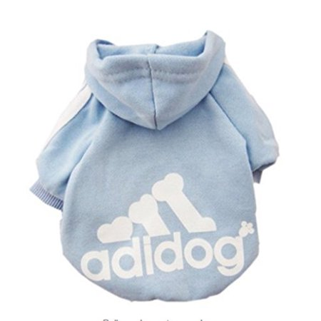 Pet Puppy Dog Cat Coat Clothes Hoodie Sweater Costumes Light blue L