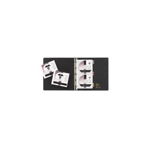 Avery Consumer Products Avery Consumer Products CD-DVD Storage Pages,For 3 Ring Binders,4CD Cap,5EA-PK,Clear