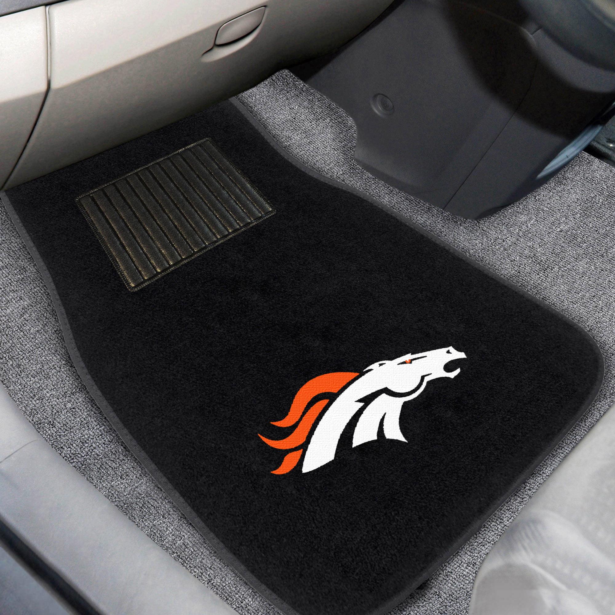Denver Broncos 2-Piece Embroidered Car Mat Set - No Size