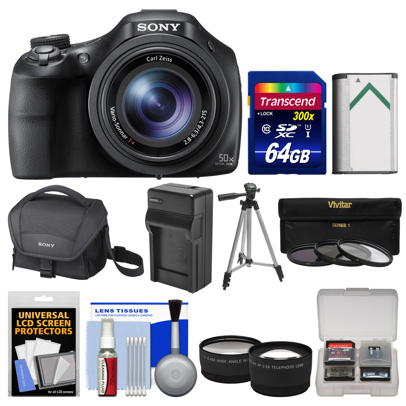 Sony Cyber Shot Dsc Hx400v Wi Fi Digital Camera With 64gb
