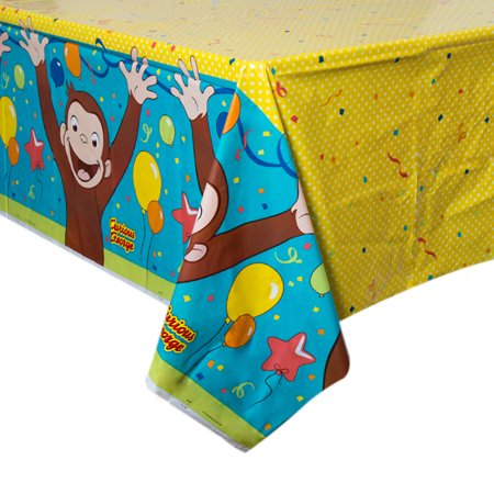 (3 Pack) Curious George Plastic Tablecover](Curious George Party Theme)