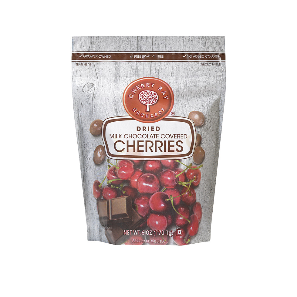 Cherry Bay Orchards Milk Chocolate Covered Dried Cherries, 6 Oz by Shoreline Fruit LLC