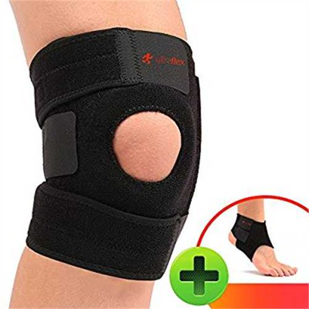 Ultra Flex Athletics | Best Knee Brace & Support Open Patella,One Size Adjustable, Neoprene good Sports Compression | relieves
