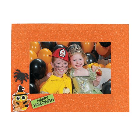 IN-13606424 Halloween Glitter Picture Frames Makes 12 By Fun Express - Halloween Frans