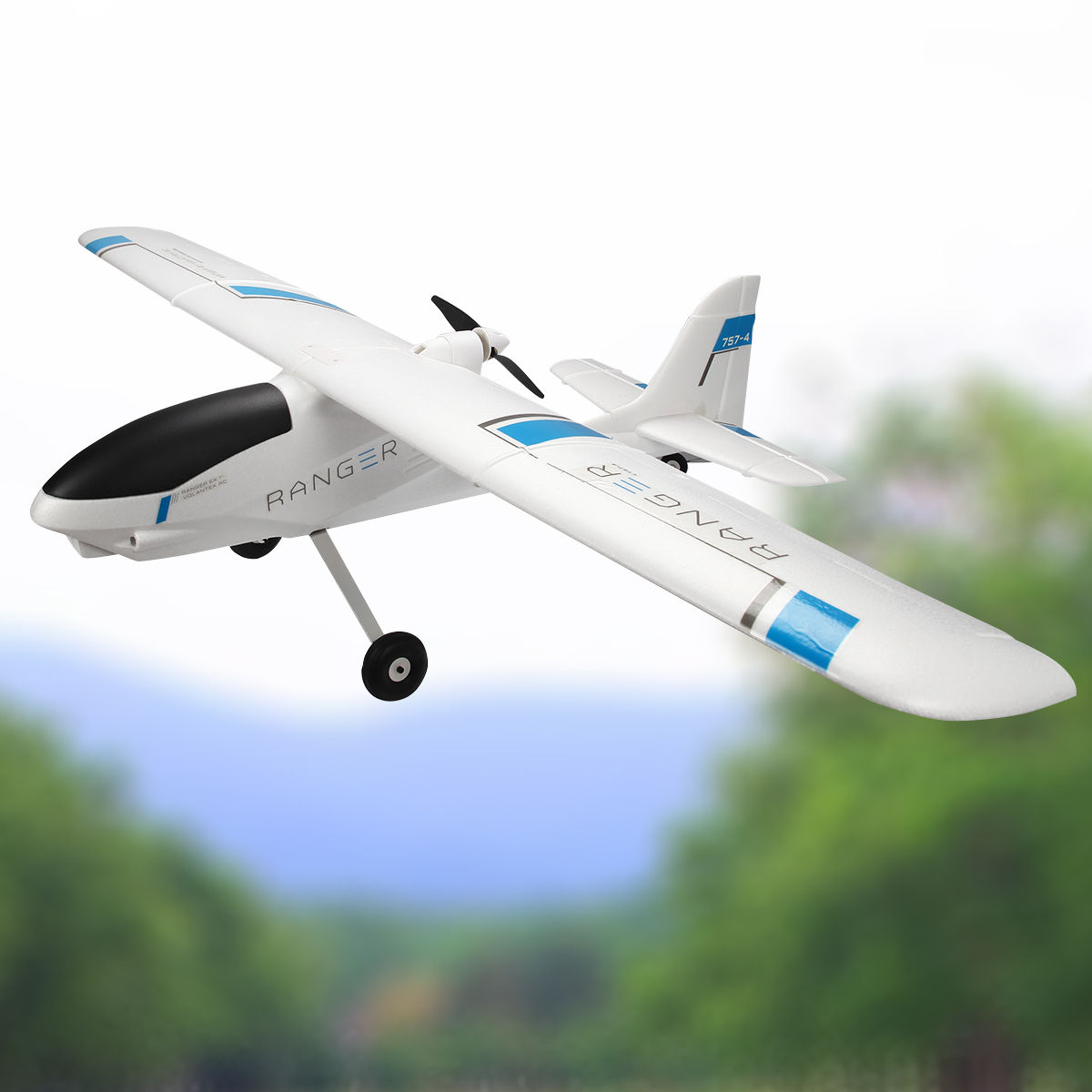 Costway Volantex Ranger 757-4 RC Plane Model Airplane PNP w  Brushless Motor No Radio by Costway