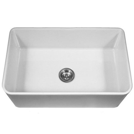 (PTS-4300 WH Platus Series 33 in. Apron Front Fireclay Single Bowl Kitchen Sink, White)
