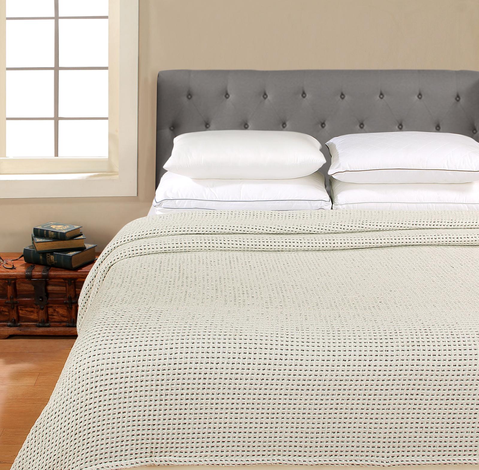 Better Homes & Gardens 100% Cotton Blanket - Color Pop Blanket Blue