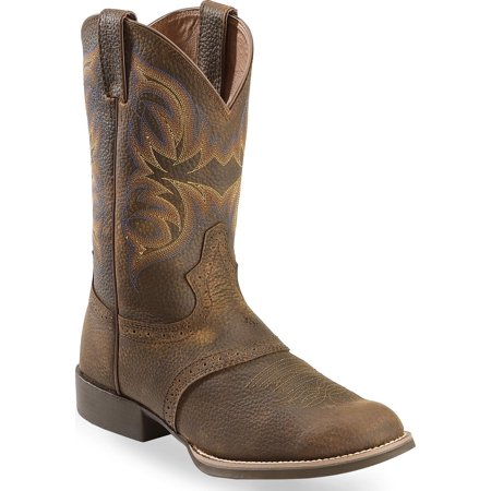 Justin Boots Justin Boots Dark Brown Rawhide W Saddle