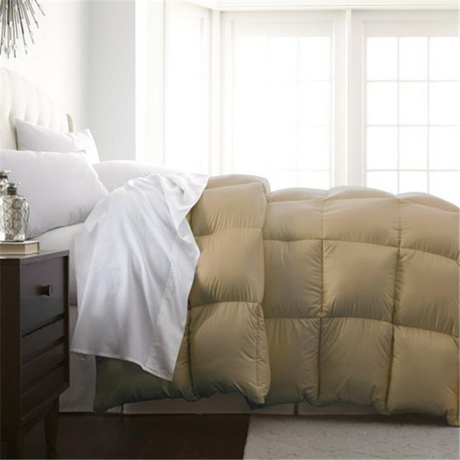 Luxury Home Milano Collection Luxurious Premier Quality Down Alternative Comforter, Khaki - Full - Queen