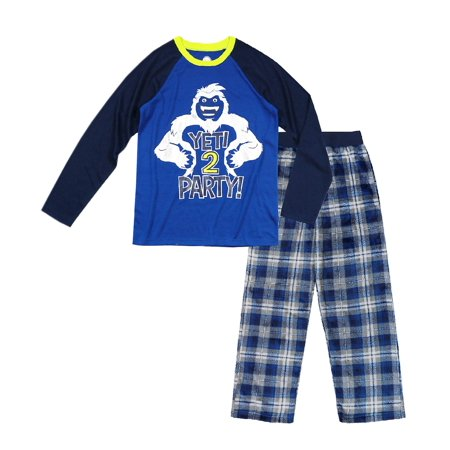 Wonder Nation Boy's Pajama 2 Piece Sleep Set (Big Boys & Little Boys) - Football Pajamas For Boys