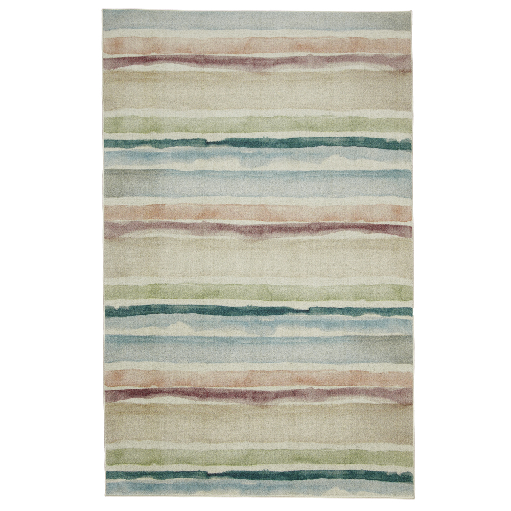 Mohawk Prismatic Area Rugs - Z0229 A416 Contemporary Olive / Sand Faded Bars Lines Rows Rug