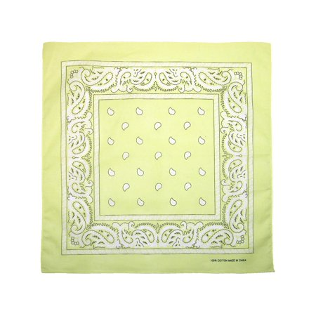 Cotton Paisley All-Purpose Bandana - White Bandanas In Bulk
