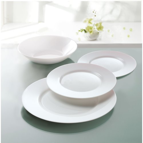 Luminarc Everyday 12 Piece Dinnerware Set Service for 4 & Luminarc Everyday 12 Piece Dinnerware Set Service for 4 - Walmart.com