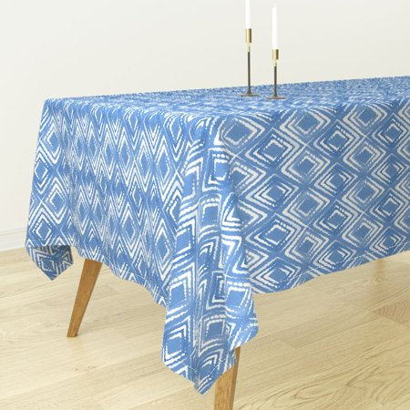 Admirable Tablecloth Indigo Shibori Batik Japanese Argyle Tie Dye Blue Cotton Sateen Onthecornerstone Fun Painted Chair Ideas Images Onthecornerstoneorg