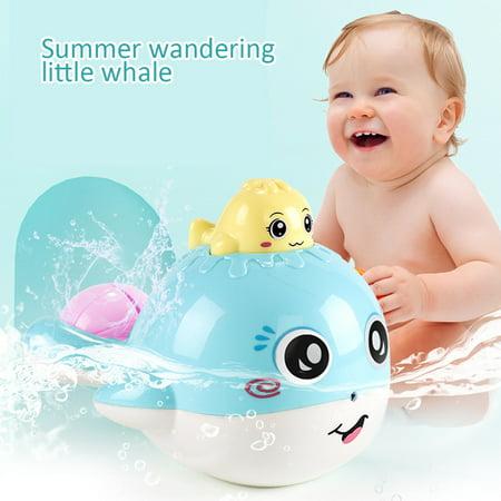 Whale Baby Bath Toys Floatable Spray Water Pool Bathroom Toys Boys And
