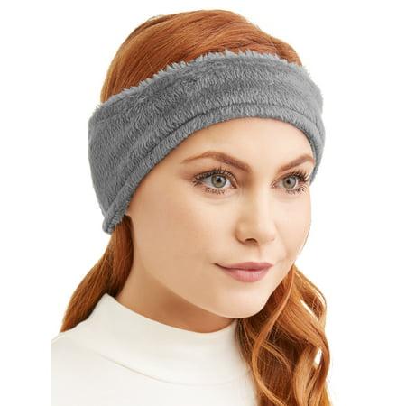 Time and Tru - Time And Tru Ladies Lux Fleece Headband - Walmart.com df39993acf4