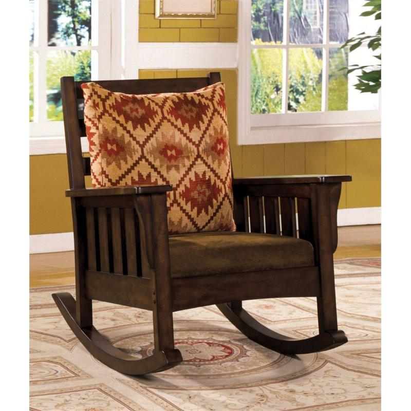 Furniture of America Edward Rocker in Dark Oak by Furniture of America