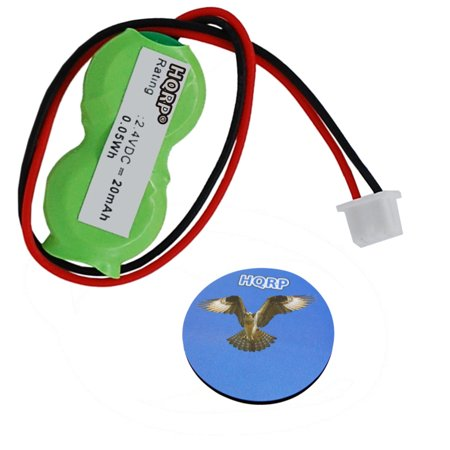 HQRP CMOS RTC Battery for Toshiba Tecra M5 / M9 / A2-S119 / A2-S139 / A2-S336 / 8000 / 8100 / 8200 Notebook PC Laptop Power Real-Time Clock Bios + HQRP Coaster