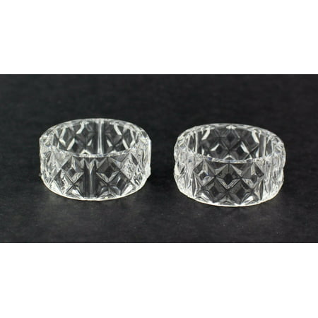2 inch Clear Crystal Plastic Napkin Holder Rings 12 Pieces 2 Piece Napkin Holder