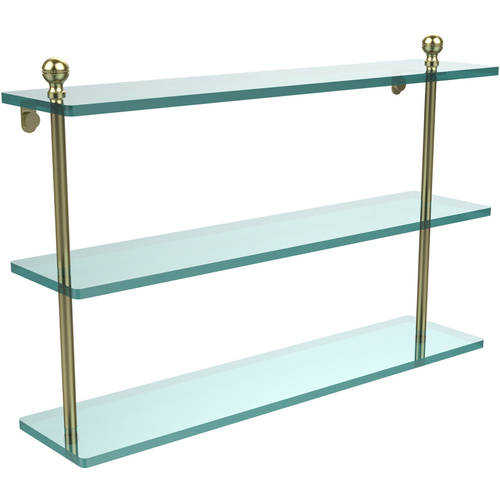 "Mambo Collection 22"" Triple Tiered Glass Shelf (Build to Order)"