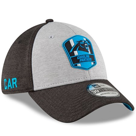 reliable quality new release new lifestyle Carolina Panthers New Era 2018 NFL Sideline Road Official 39THIRTY ...