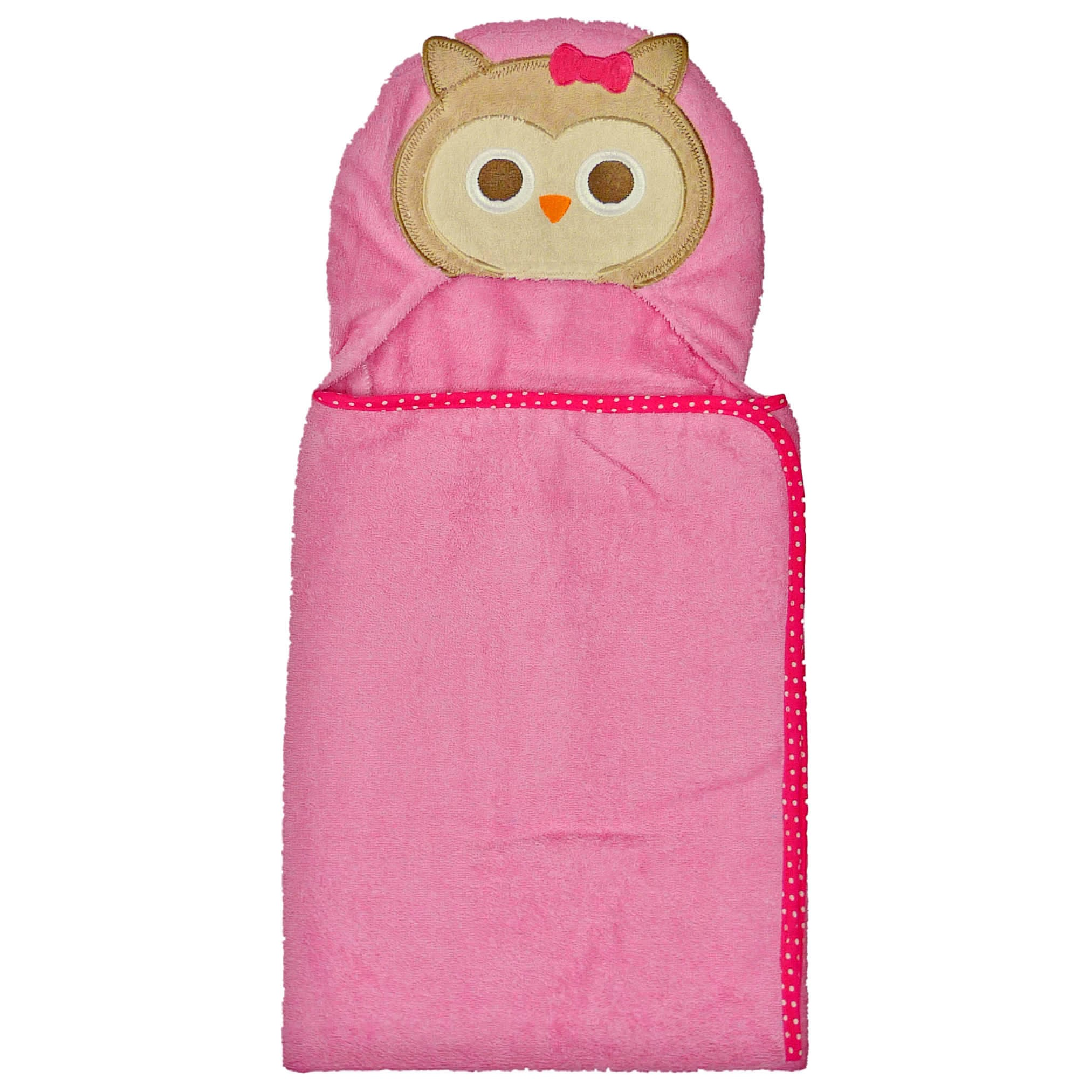 Neat Solutions 3D Applique Woven Terry Bath Wrap, Owl