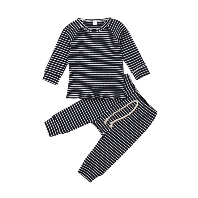 Baby Boys Girls Clothes Set Newborn Infant Autumn T Shirt Tops+Pants Outfits 2Pcs Clearance!