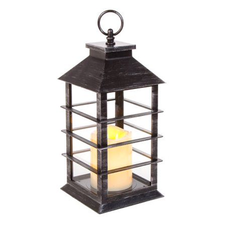 Darice Lantern Plastic LED w/Timer Black