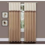 "Terra Beige/Ivory Window Curtains, Pair, 54"" x 84"""