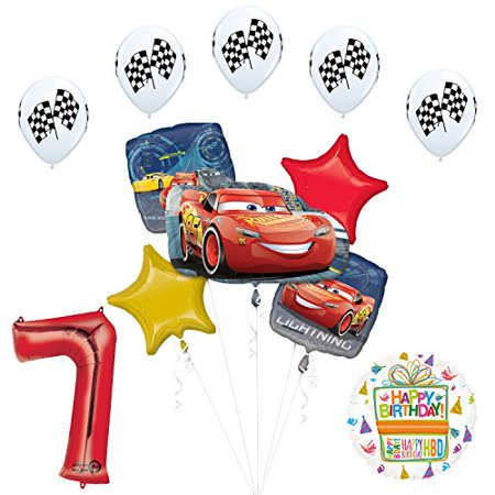 Disney Cars 3 Lighting McQueen 7th Birthday Party - Mcqueen Birthday Supplies