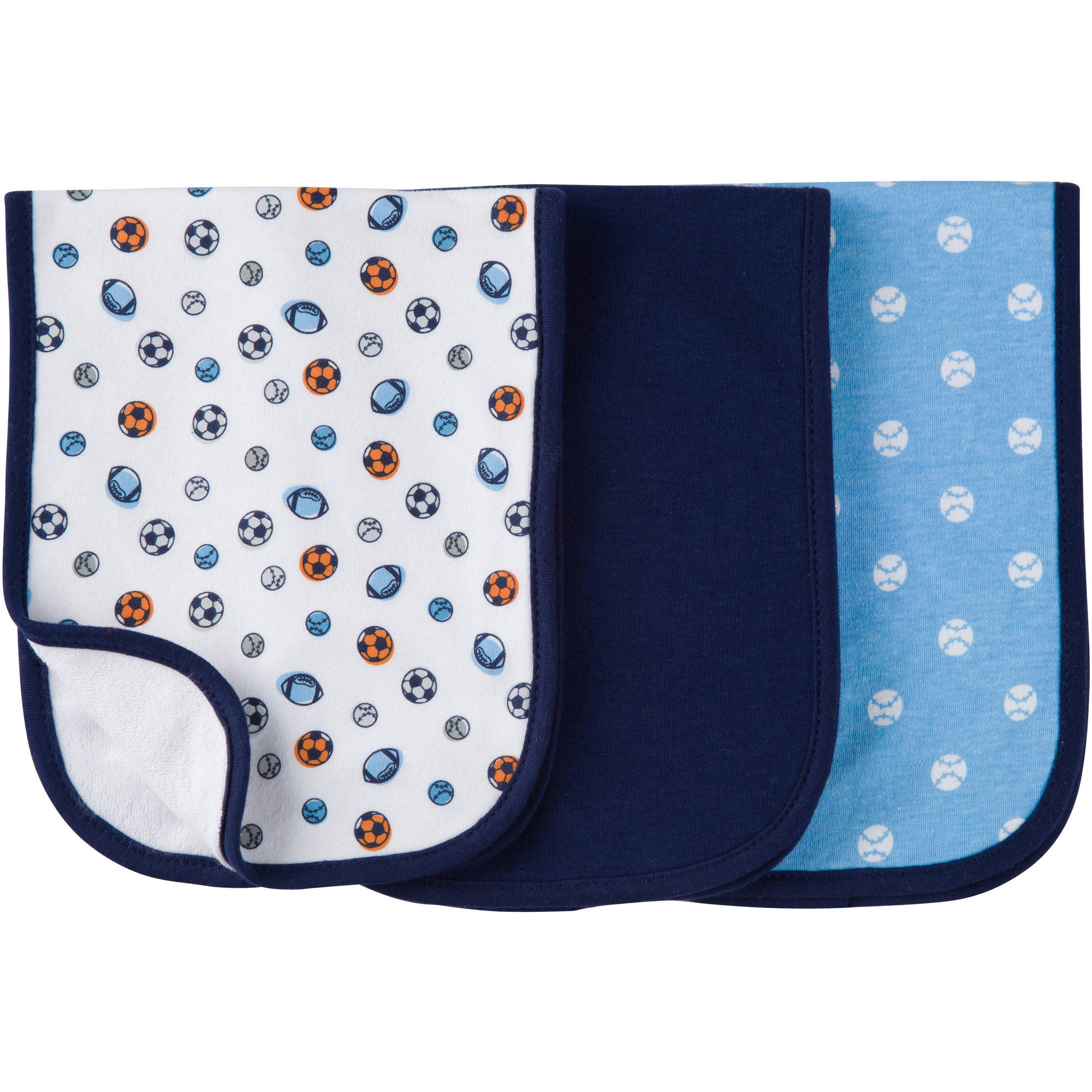 Gerber Baby Boys' Premium Burp Cloths, 3pk