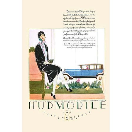 An ad for the line of cars produced by Hupmobile and pushing its luxury status Poster Print by unknown