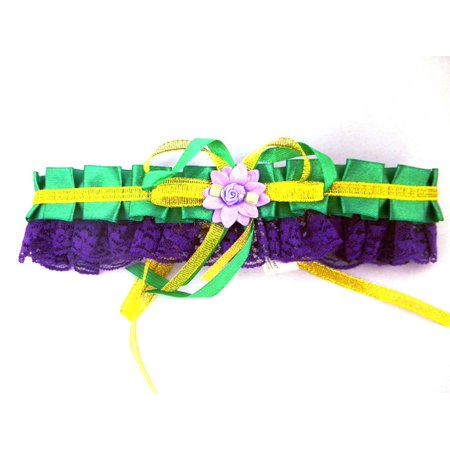 Mardi Gras Tutu (Mardi Gras Choker Purple Green Gold Flower)