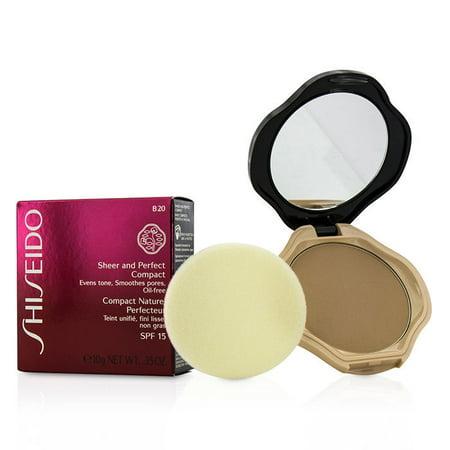 Sheer Finish Compact Foundation - Shiseido Sheer & Perfect Compact Foundation SPF15 - #B20 Natural Light Beige 10g/0.35oz
