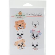 Peachy Keen Stamps Clear Face Assortment 6/Pkg-Happy Go Lucky Dog