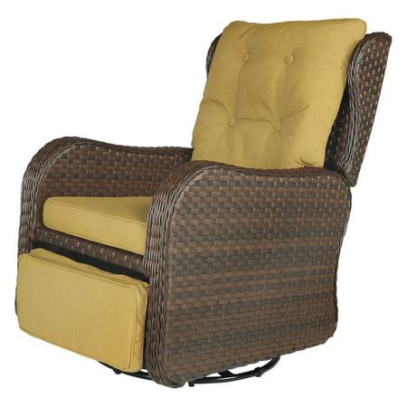cloud mountain wicker patio reclining glider chair walmart com