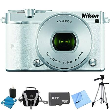 Nikon 1 J5 Digital Camera W  Nikkor 10 30Mm F 3 5 5 6 Pd Zoom Lens White Bundle Includes 1 J5 Digital Camera  10 30Mm Zoom Lens  16Gb Memory Card  Lens Cleaning King  Gadget Bag  57 Inch Tripod And Mo