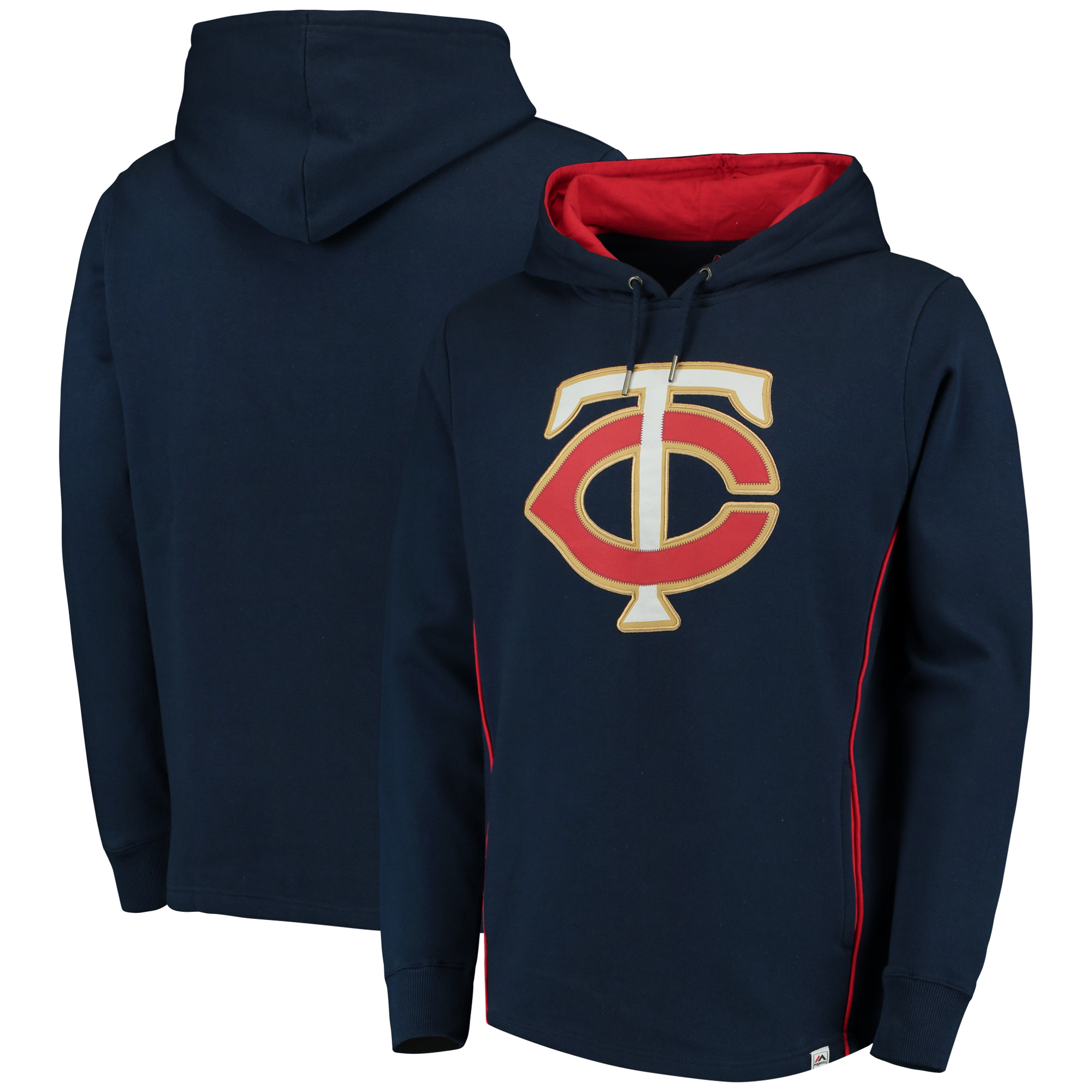 Minnesota Twins Majestic Lefty/Righty Pullover Hoodie - Navy