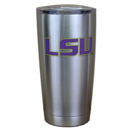 LSU Tigers NCAA Stainless Steel Insulated 20oz Tumbler - Silver
