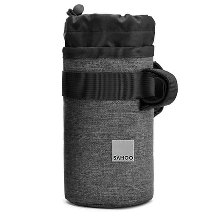 Cycling Insulated Water Bottle Pouch Drawstring Water Bottle Bag Bike Handlebar Bag