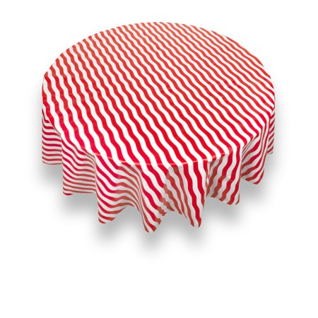 Carnation Home Fashions Quot Bold Stripe Quot Red 70 Inch Round