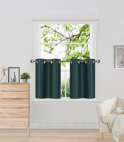 Hunter Green Kitchen Curtains: D2 Hunter Green 1-Pair Of Solid Insulated Grommet