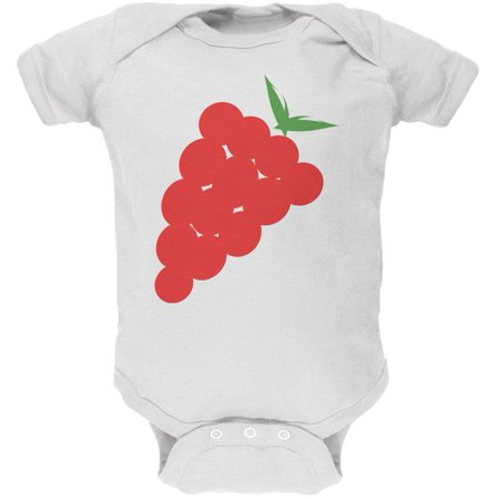Halloween Red Grapes Costume Soft Baby One Piece - Grape Costumes