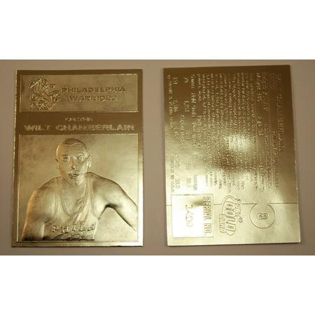 Chamberlain Card (WILT CHAMBERLAIN 1961-62 Fleer ROOKIE 23KT Gold Card Sculptured NM-MT #/5,000 )